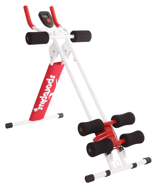 SportPlus Bauchtrainer Ab Plank, Rot