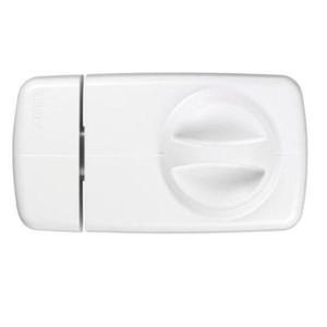 Abus Türzusatzschloss 7010 Weiss mit Außenzylinder