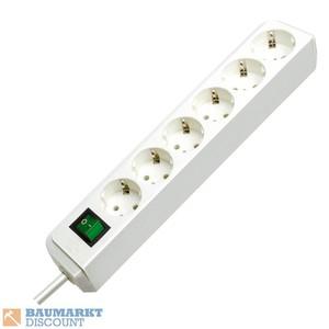 Brennenstuhl Steckdosenleiste Eco-Line 6-fach 1,5m 3G1,5 weiß
