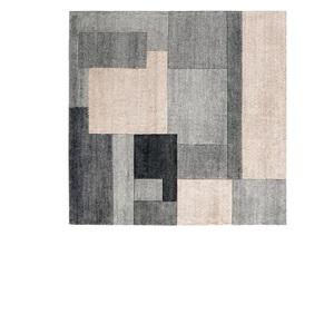 Handgeknüpfter Teppich JOY 140 x 200 cm in Grau