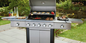 Tarrington House Gasgrill 5-flammig  mit Seitenbrenner
