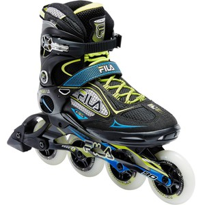 FILA Inline-Skates Inliner Fitness Primo LX 90 Herren schwarz/blau/gelb, Größe: 40