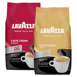 Lavazza Caffé Crema Classico, Dolce oder Gustoso + 10% gratis jede 1100-g-Promotion-Packung