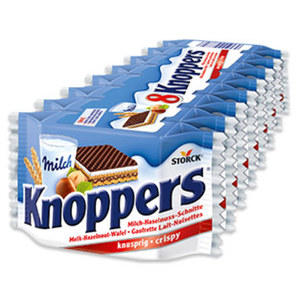 Knoppers 8er, jede 200-g-Packung