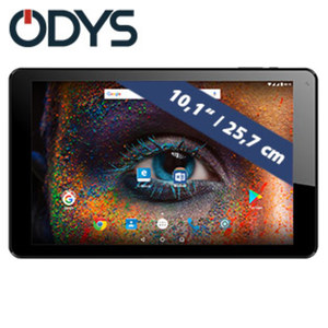 Odys Tablet Falcon 10 plus 3G • Quad-Core-Prozessor (bis zu 1,3 GHz) • 2 Kameras (0,3 MP/2 MP) • microSD™-Slot bis zu 32 GB • Android™ 7.0