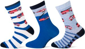Kinder Socken 3er Pack Gr. 19-22 fire brigade
