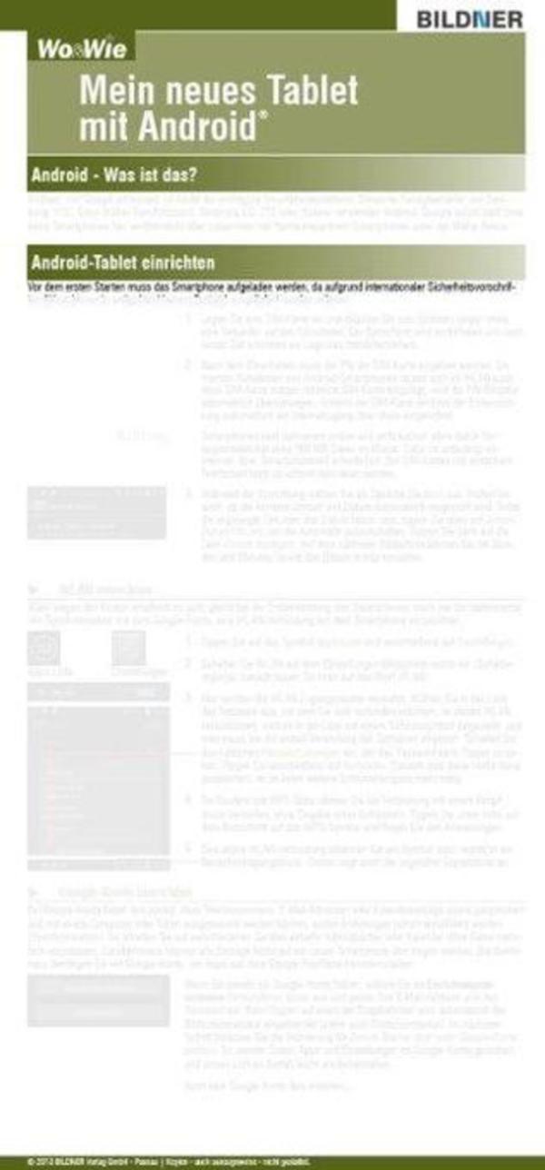 Wo & Wie: Mein neues Tablet mit Android, Referenzkarte