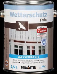 Primaster Wetterschutzfarbe ,  2,5 l, dunkelbraun