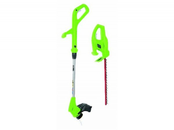 Greenworks Gartenpflege-Set 24 V ,  24V Trimmer + 24V Heckenschere ohne Akku, ohne Ladegerät