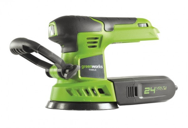 Greenworks Exzenterschleifer 24 V ,  ohne Akku und Ladegerät