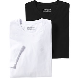 Camp David Herren T-Shirts, 2er-Pack s/w
