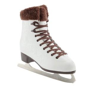 OXELO Eiskunstlauf-Schlittschuhe Artistic 3 Damen weiß/braun, Größe: 36