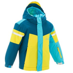 WED´ZE Skijacke 300 Kinder blau/gelb, Größe: 3 J. - Gr. 95