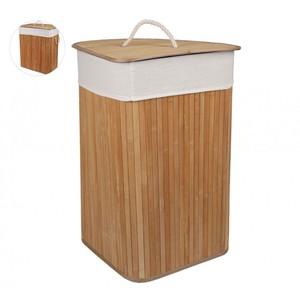 Faltbarer Wäschekorb aus Bambus