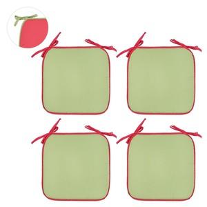 Sitzkissen Basic, 4er-Pack rot