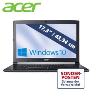 Acer Aspire A517-S1-344S · HD+-Display mit LED Backlight · Intel® Core i3-6006U Prozessor (bis zu 2,0 GHz) · Intel® HD Graphics 520 · USB 3.1, USB 3.0, USB 2.0 · DVD-Brenner