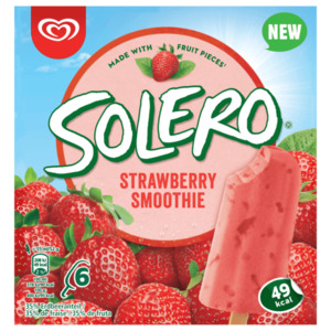 Solero Strawberry Smoothie Familienpackung Langnese Eis 6x55ml