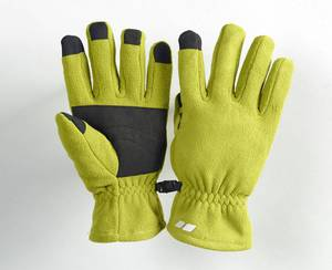 Fleece Handschuhe, Innenseite und Fingerkuppen aus rutschfestem Material, Farbe grün, Gr.L