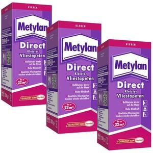 METYLAN DIRECT VLIESTAPETEN 3 x 200 g
