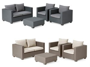 Allibert Lounge Set Salta mit 2-Sitzer Bank
