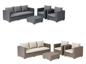 Allibert Lounge Set Salta mit 3-Sitzer Bank