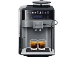 SIEMENS TE 651509 DE EQ.6 Plus S100, Kaffeevollautomat, 1.7 Liter Wassertank, 15 bar, Keramikmahlwerk, Schwarz/Titanium metallic
