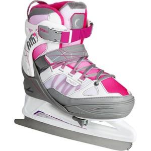 OXELO Schlittschuhe Fit 5 Girl Kinder größenverstellbar weiß/pink, Größe: 29/32