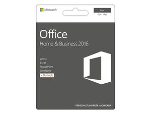 Microsoft Office Home & Business 2016, Software-Paket für Mac, Product Key Card
