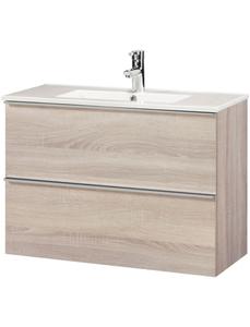 Waschplatz »Malaga 800«, SlimeLine, Breite 80 cm, Tiefe 36 cm, (2 tlg.)