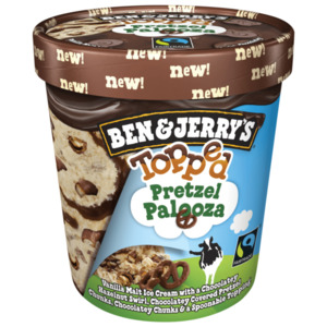 Ben & Jerry's Topped Pretzel Palooza Eis 470 ml