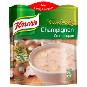 Knorr Feinschmecker Champignoncreme Suppe 2 Teller