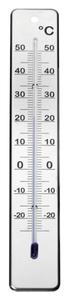 Thermometer aus Edelstahl, hängend, Quecksilberfrei 28 x 4,5 cm CHG
