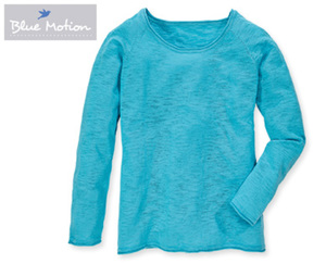 Blue Motion Pullover, Slub-Optik