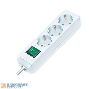 Brennenstuhl Steckdosenleiste Eco-Line 3-fach 5m 3G1,5 weiß