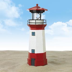 EASYmaxx Solar-Leuchte Leuchtturm 1,2V - Rot / Weiß