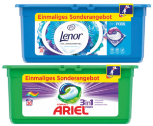 Ariel oder Lenor 3 in 1 Pods