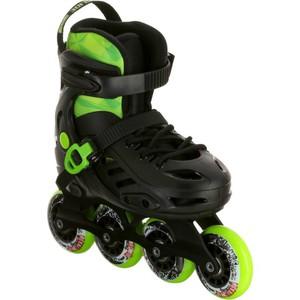 POWERSLIDE Inline-Skates Freeride Khaan Kinder schwarz/grün, Größe: 35/36/37/38