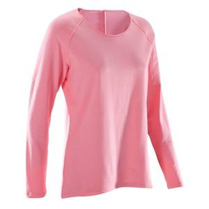 DOMYOS Langarmshirt Yoga F 100 Eco Damen koralle, Größe: XS