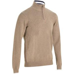 INESIS Golf-Pullover 540 mit Zip Thermopulli Herren beige meliert, Größe: S