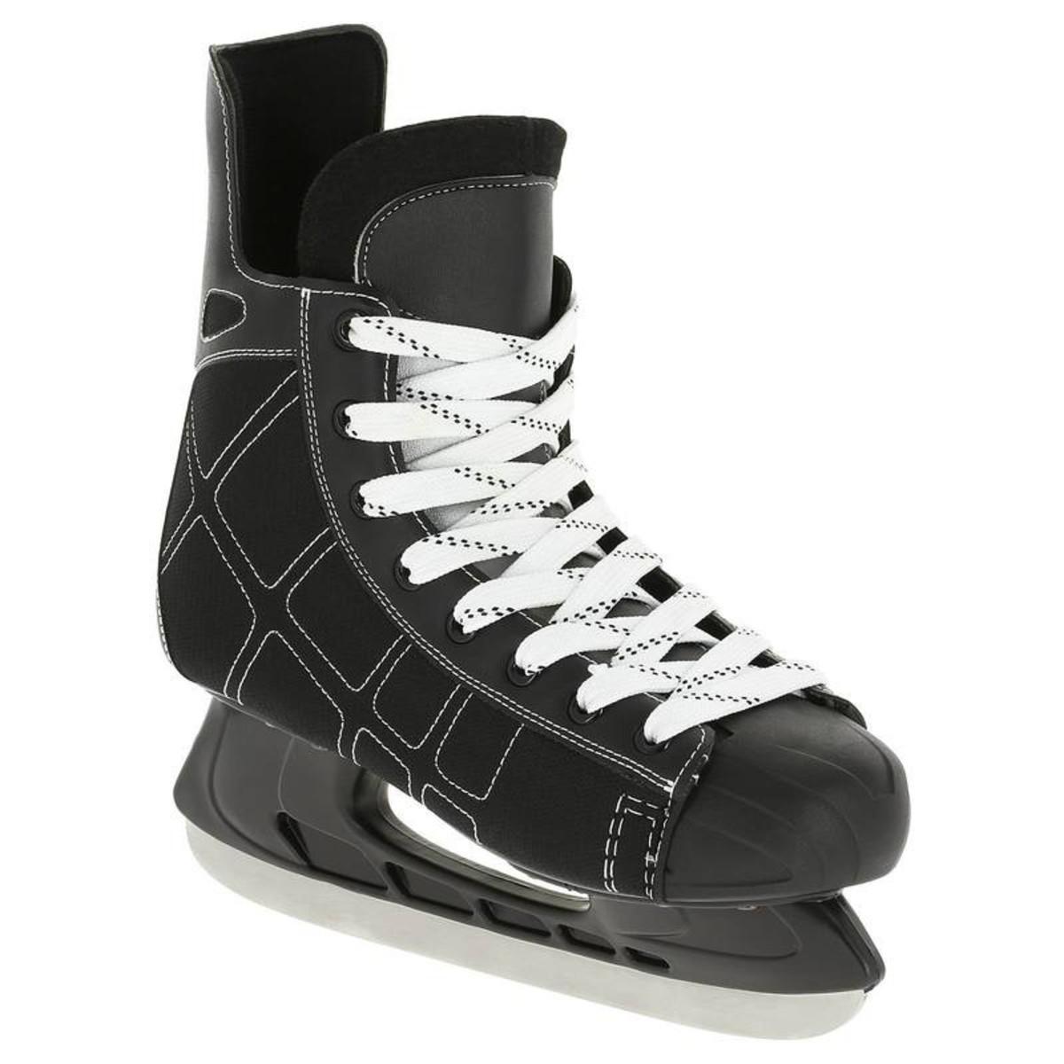 Bild 1 von OXELO Eishockey-Schlittschuhe Zero Erwachsene schwarz, Größe: 38