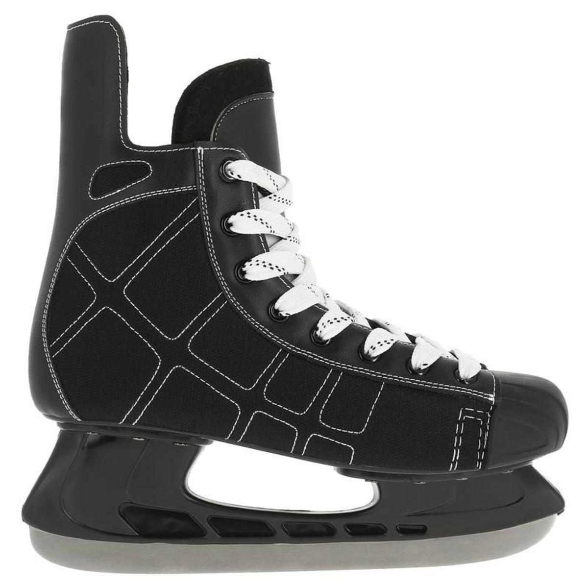 Bild 2 von OXELO Eishockey-Schlittschuhe Zero Erwachsene schwarz, Größe: 38