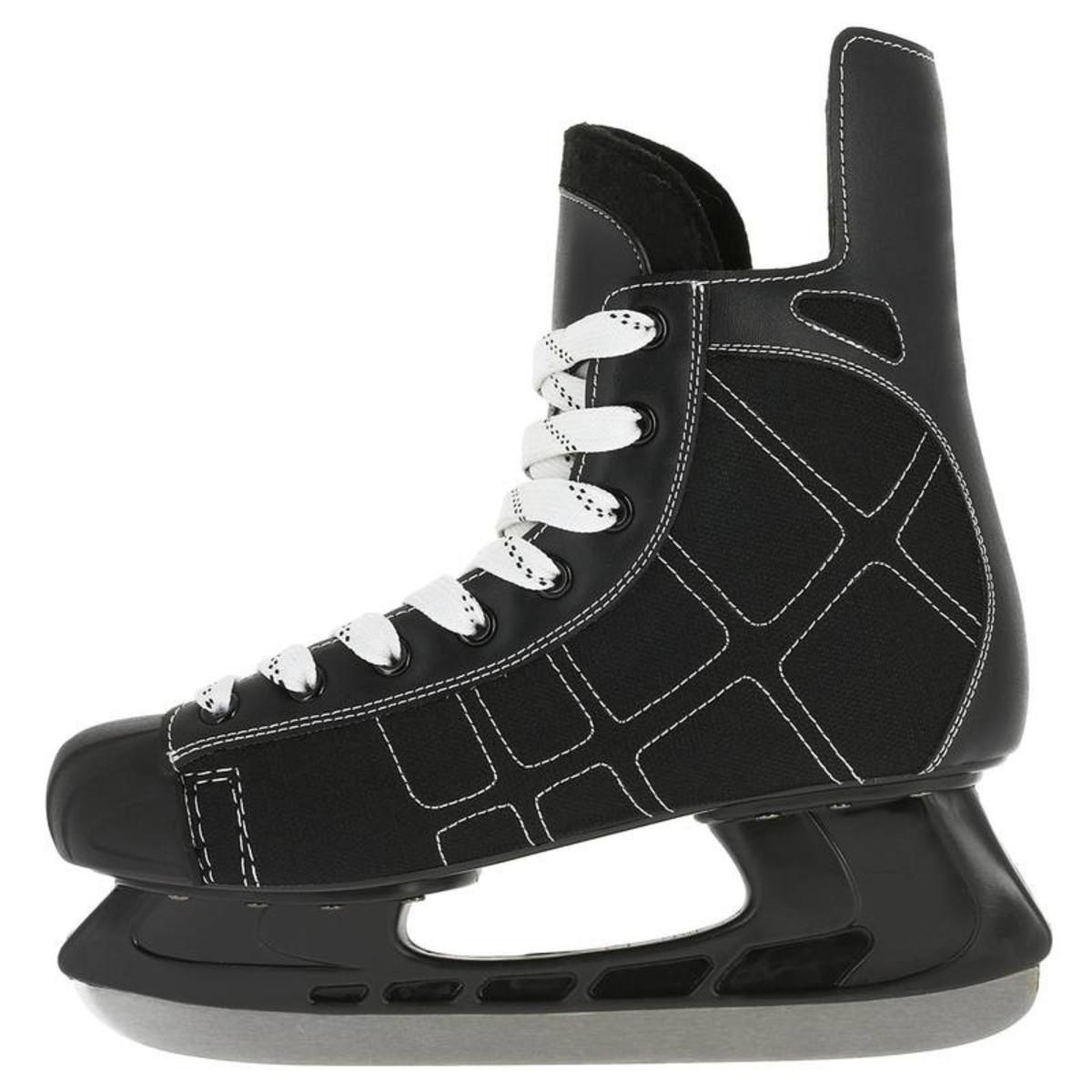 Bild 3 von OXELO Eishockey-Schlittschuhe Zero Erwachsene schwarz, Größe: 38