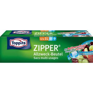 Toppits ZIPPER® Allzweck-Beutel 12 x 1l