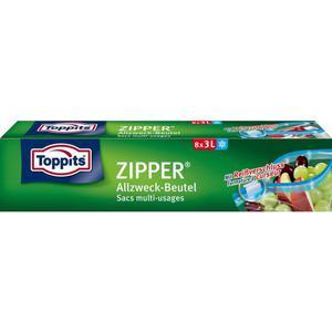 Toppits ZIPPER® Allzweck-Beutel 8 x 3l