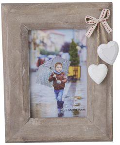 Bilderrahmen für 1 Foto à 10 x 15 cm - aus Holz - 17 x 22 x 1,5 cm
