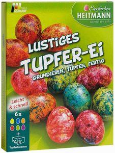 Lustiges Tupfer-Ei - Ostereier Farben