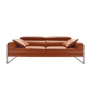 STEFANO SARDO Sofa ROMEO Lederbezug Cognac ca. 182 x 67 x 105 cm