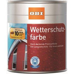 OBI Wetterschutzfarbe Anthrazit seidenmatt 2,5 l