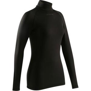 B´TWIN Fahrrad-Unterwäsche Langarm-Funktionsshirt 300 Damen schwarz, Größe: S