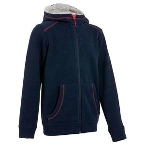 QUECHUA Wanderjacke Hoodie Warm Kinder marineblau, Größe: 4 J. - Gr. 104